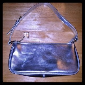 Victoria's Secret silver clutch gem purse + strap